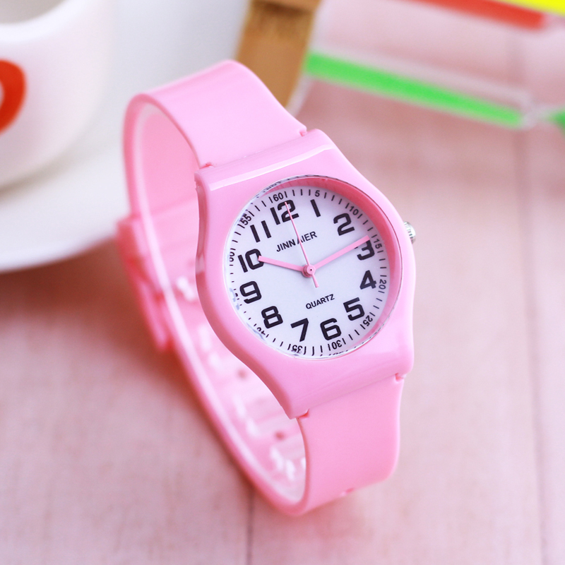 Relojes Fashion Children Kids Boys Girls Wristwatch Analog Quartz Watch Candy Colorful Digital Students Gifts Waterroof Watches