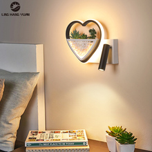 Modern LED Wall Lamps Bedside Lights for Living Room Bedroom Study Room with Switch Light Wall Lights Indoor Lighting 12W