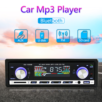 1 DIN In Dash Car Radio Audio Source Recording Bluetooth AUX-in U Disk SU-930B Autoradio USB Multimedia MP3 Player Car Parts image