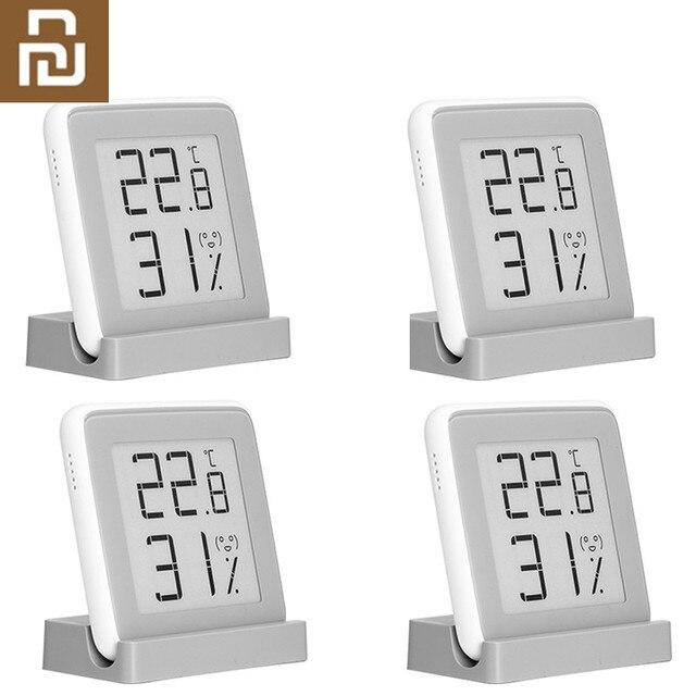 Youpin MiaoMiaoCe E קישור מדחום טמפרטורת לחות חיישן דיו מסך תצוגה דיגיטלי לחות מד לחות LED עבור בית