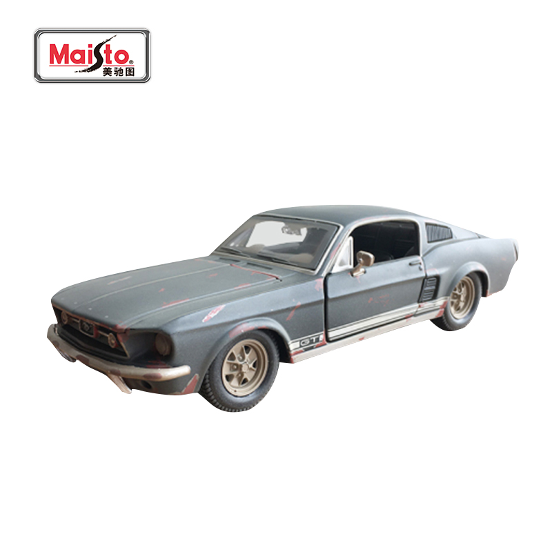 Maisto 1967 Ford Mustang GT Car Model 1: 24 Mustang To Do The Old Model Alloy Car Model Precious Collection For Gift