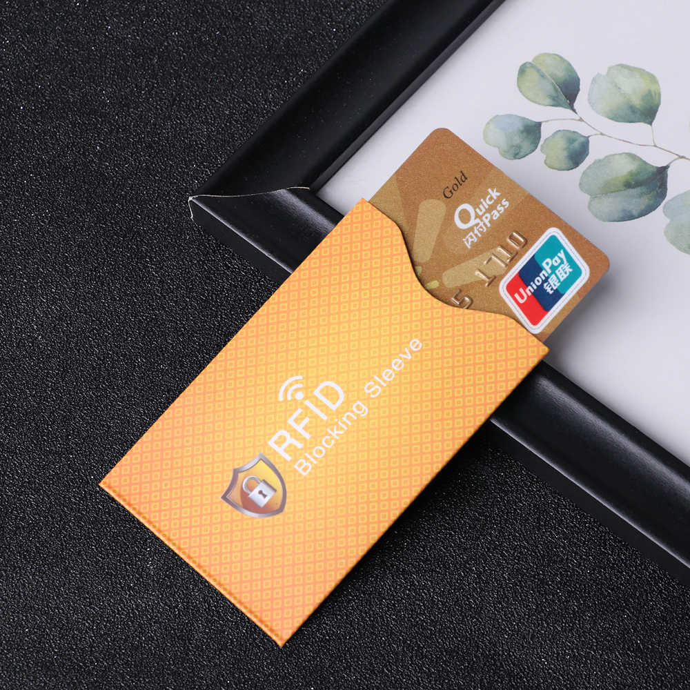 5 Stuks Anti Diefstal Voor Rfid Credit Card Protector Blokkeren Kaarthouder Sleeve Skin Case Covers Bescherming Bankkaart Geval