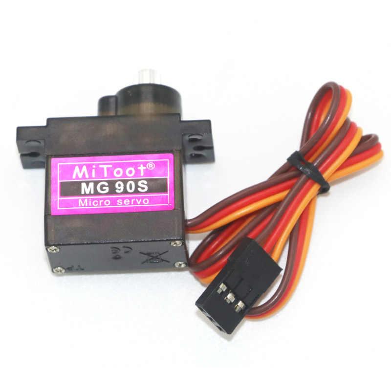 Mitoot MG90S 9g معدات معدنية ترقية SG90 الرقمية الصغيرة سيرفوس للسيارات الذكية هليكوبتر Boart سيارة