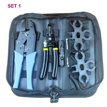 solar wirestrippe hand tool set containMC4Crimping tool multi-functionwith cutterMC4Connector spanner kit for solar cable цена 2017