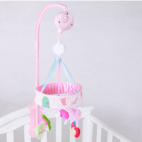 Newborn Infant Bed Bell 0 1 Year Old Baby Toys Baby Music Rotating Bedside Bell Pink Rabbit Bed Bell a Generation of Fat
