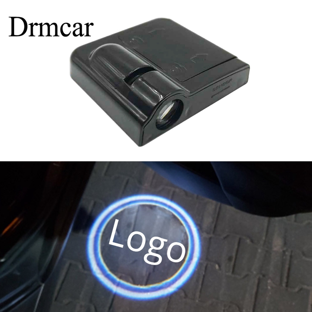 1pcs Wireless Car Door Logo Light Welcome Decor Lamp Laser Shadow Lamp Projector Light Atmosphere Car Light Car Accessories