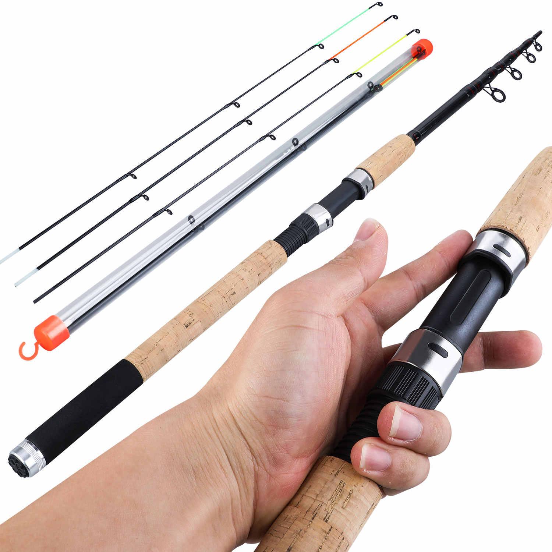 Удочка для Sougayilang, телескопическая спиннинговая удочка для путешествий, 3,0 м, 3,3 м, 3,6 м, удочка для ловли карпа, 60-180 г, удочка для рыбы