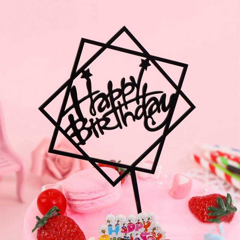 1 قطعة بريق عيد ميلاد سعيد كعكة توبر الاكريليك كب كيك DIY الذهب كعكة أعلى أعلام زينة عيد الميلاد للمنزل حزب السنة الجديدة الزفاف