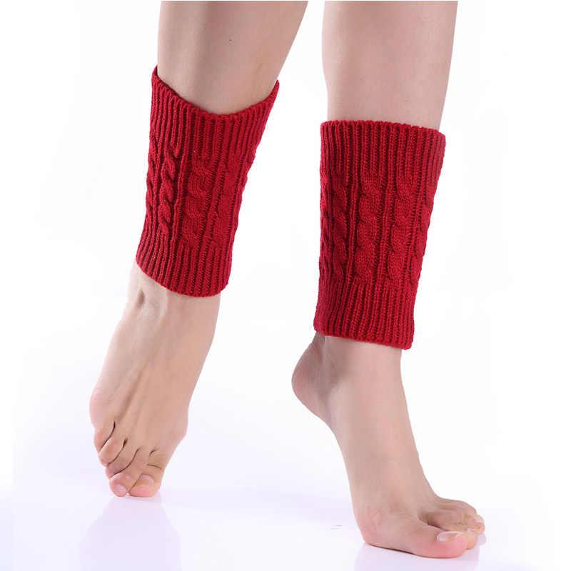 YOZIRON Vrouwen Winter Solid Gebreide Zwarte Beenwarmers Meisjes Gebreide Knie Sokken Herfst Slobkousen Benen Enkel Warmer Vrouwelijke Laarzen Sokken