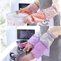 TTLIFE Antifouling Sleeve Women Oversleeves Cleaning Housework Waterproof Arm Protector Sleeve Kitchen Household Cleaning Tools Oversleeves     -