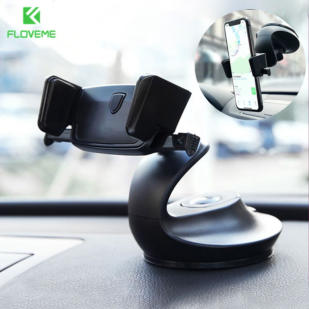 FLOVEME Auto Lock Car Phone Holder For Iphone Dashboard Windshield Desk Holders Air Vent Mount Phone Stand Support Car Holders