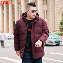 Winter new men's hooded down jacket oversized people Large plus size  men's 8XL jacket warm thick 7xl