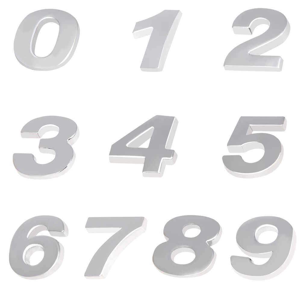 1 قطعة سيارة ملصقا الإبداعية 3D خطابات 0-9 شعار الرقمية الشكل عدد الكروم ألواح رسومات للسيارات يمكنك تركيبها بنفسك التصميم المعادن ملصقا 2.5 سنتيمتر * 2.2 سنتيمتر * 3 مللي متر