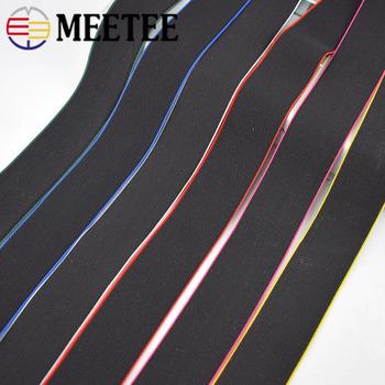 4 8 metrów 4cm miękka skóra elastyczna gumka do szycia spodnie pas rozciąganie gumy zespół nylonu elastyczna taśma dodatki do odzieży tanie i dobre opinie Meetee CN (pochodzenie) Polyester Nylon