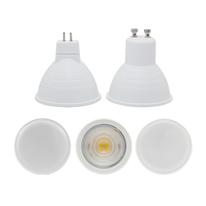 Led Spotlight Bulb GU10 MR16 6W Cob Lamp 110v 220v 230v 240v Cool White 6500k Nature White 4000k Warm White 3000k Spot Light