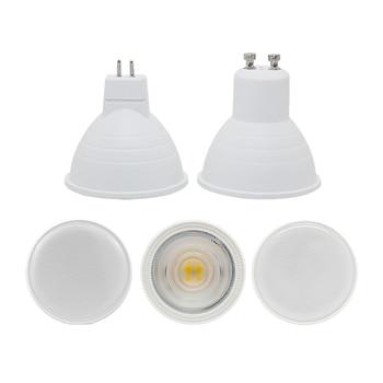 цена на led spotlight bulb GU10 MR16 6W cob lamp 110v 220v 230v 240v cool white 6500k nature white 4000k warm white 3000k spot light