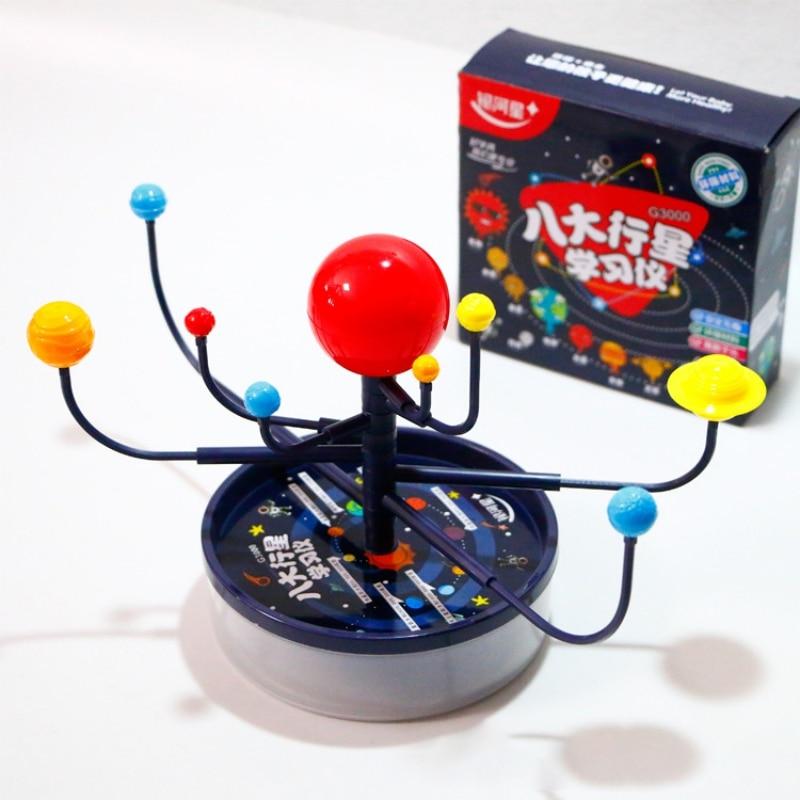 DIY Popular 3D 9 Planets Science Solar System Model Children Assembling Toy Educational Toys