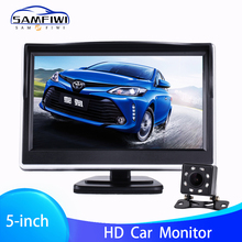 цена на 5 inch TFT LCD HD Screen Car Monitor Parking Rear View Monitor  Color Car Reverse Rear View Backup Camera with 2 Way Video Input