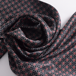 Image 5 - [BYSIFA] Black Red Long Scarves For Men Fashion Accessories Male Pure Silk Scarf Cravat Winter Flowers Pattern Scarf 160*26cm