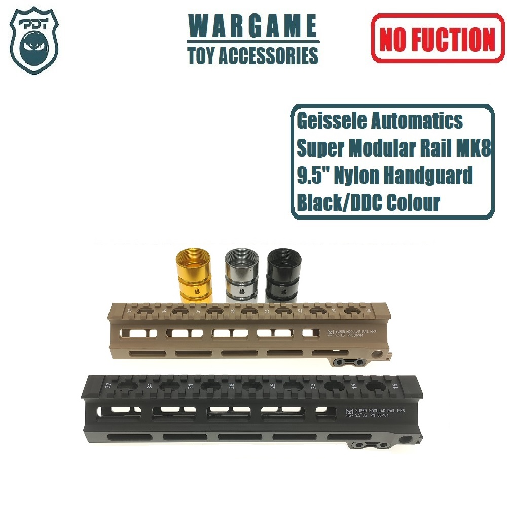 "9.5"" Geissele Automatics Super Modular Rail MK8 M-Lok Handguard For J9 Gen9 SLR CYMA Toy Gel Blaster Airsoft AEG GBB(China)"