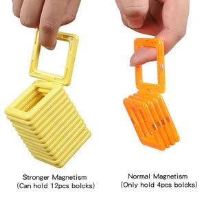 Image 5 - 2019 yeni Macaron renk manyetik bloklar oyuncaklar çocuklar için mıknatıs yapı taşları seti tasarımcı eğitim tuğla manyetik oyuncak