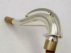 الموسيقى الشرقية C10 نوع الفضة مطلي تينور الساكسفون الرقبة عززت شريط جديد