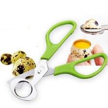 Novo criativo pombo codorniz ovo tesoura cracker abridor ferramenta de aço inoxidável cortador charuto prático segurança casca ovo corte