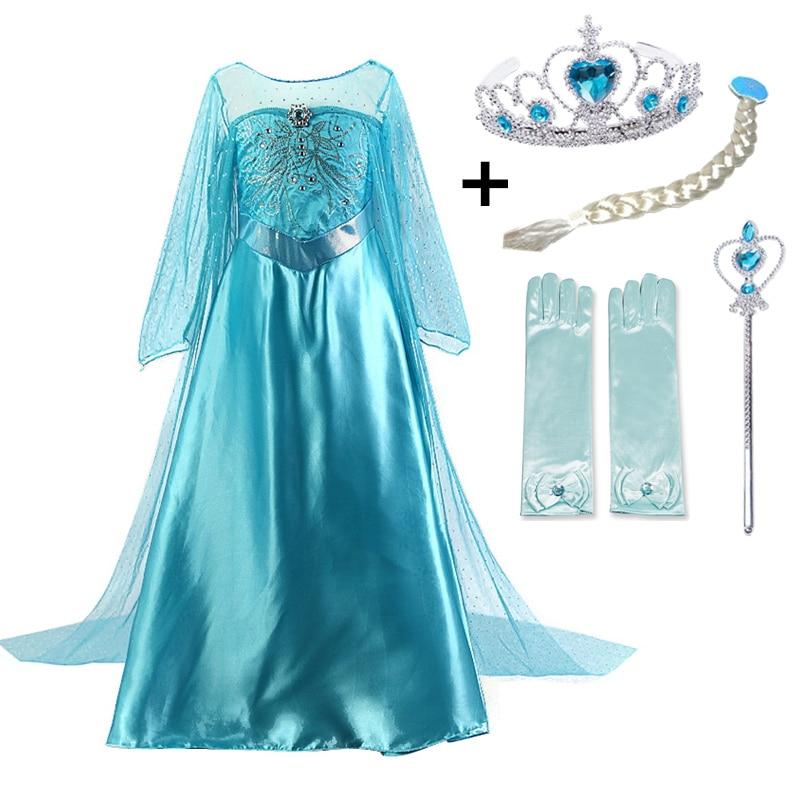 New Elsa Kids Dresses For Girls Princess Anna Elsa Costumes Kids Cosplay Party Dresses Vestidos Fantasia Infantil Girls Clothing