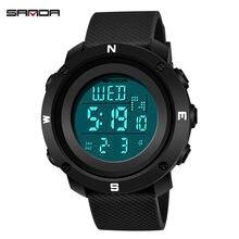 Модные спортивные мужские часы sanda 2020 светодиодные цифровые