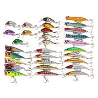 Fly Fishing Lures Set Kit 30pcs Pesca Assorted Size Minnow Wobbler 3D eyes China Hard Bait Jia Lure Wobbler Carp Fishing Tackle