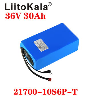 LiitoKala 21700 36V 20ah 15ah 25ah 30ah Lithium Battery Electric Bike Battery 500W Scooter Battery With 30A BMS image