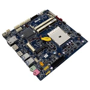 Image 3 - Voor Gigabyte Mqhudvi Dunne Mini 17*17 FM2 A75 Moederbord Itx Dc Aangedreven Lvds Originele Gebruikt Moederbord