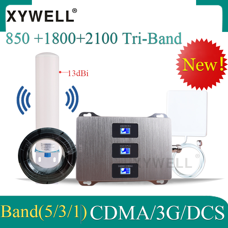 New!! 850/1800/2100 GSM Mobile Signal Booster Cellular Amplifier 4G Signal Booster CDMA DCS WCDMA 2g 3g 4g GSM Signal Repeater