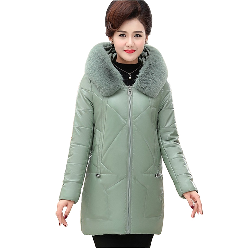 ainr Womens Cotton Lined Hooded Warm Winter Long Coats Outwear