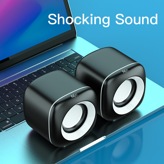 Mini Computer Speakers Deep Bass Sound Speaker for For TV Laptop Surround Sound Box Subwoofer Powerful Multimedia Loudspeakers 2