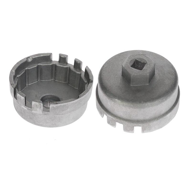 Алюминиевый Масляный фильтр гаечный ключ крышка гнездо инструмент для удаления Lexus Toyota Highlander RAV4 Camry универсальный корпус