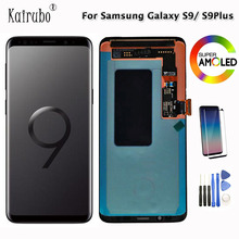 """2960*1440 6.2"""" AMOLED AAA Quality LCD With Frame For SAMSUNG S9 Plus G9650 S9 Display Touch Digitizer G960 G965 Screen + Gift"""