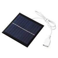 Mini Panel Solar USB de 1W y 5,5 V, Sistema Solar artesanal para teléfono, Banco de energía, ventilador, cargadores de batería, 95X95mm