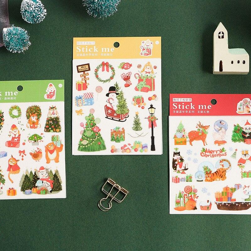 1 Sheet Kawaii Christmas Decorative Washi Stickers Scrapbooking Stick Label Diy Diary Album Statione