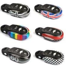 Housse de porte-clés avec chaîne Union Jack, décoration pour Mini Cooper S JCW One D F54 Clubman F55 F56 F57 F60 Countryman, accessoires de voiture