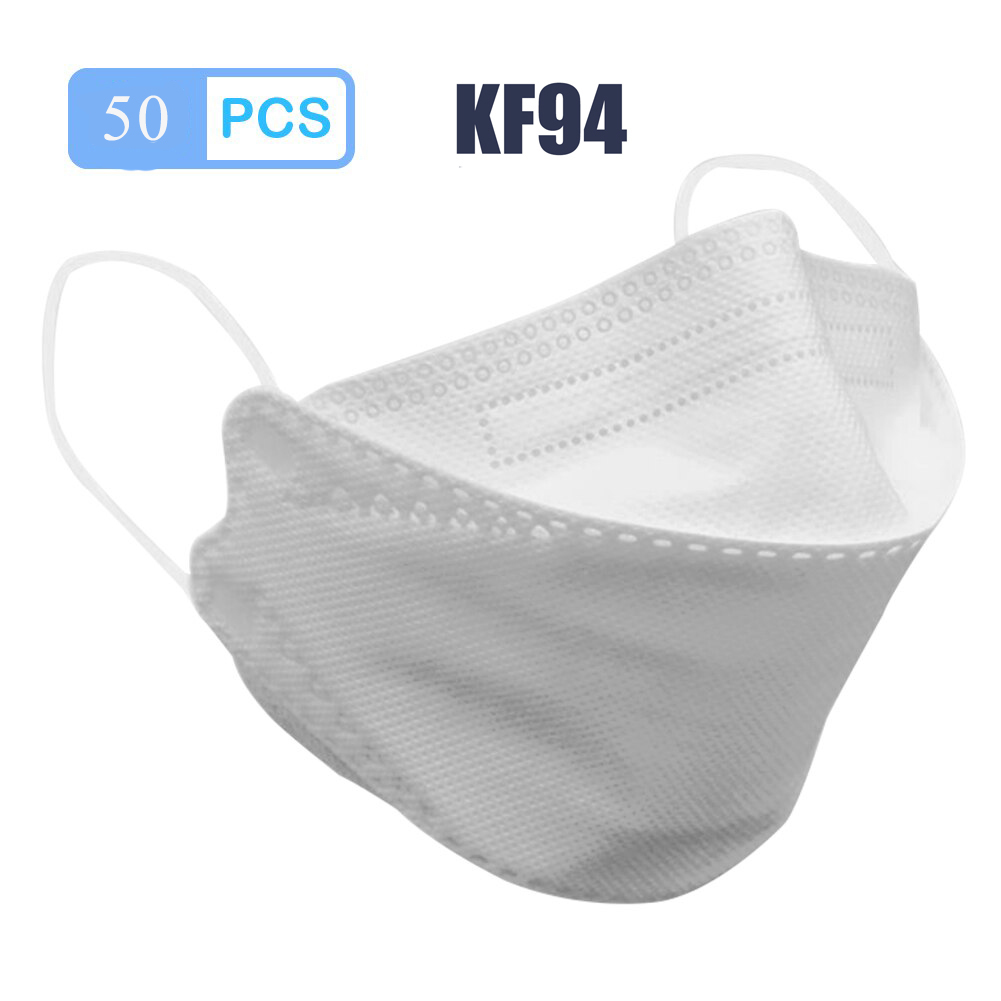 KF94 Mask 4 Layer Non-woven Fabric Breathable Anti Dust Protective Antibacterial Masks Face Mouth Nose Cover 마스크kf94 50pcs 마스크