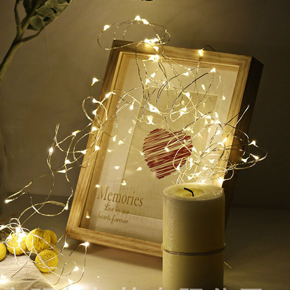 Arrival Button Copper Wire Christmas Day Decorative Lantern Led Remote Control Battery Box Lamp Led Fairy Lights