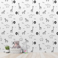 Wall Custom Fashion Wallpaper Cartoon Modern Minimalist Abstract Background Wallpaper Room Decoration