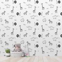 Wall Custom Fashion Wallpaper Cartoon Modern Minimalist Abstract Background Wallpaper Room Decoration