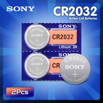2pcs SONY 2032 battery cr2032 cr 2032 5004LC KL2032 SB-T15 3v Button Cell Coin Lithium Batteries for Watch Computer Toys image
