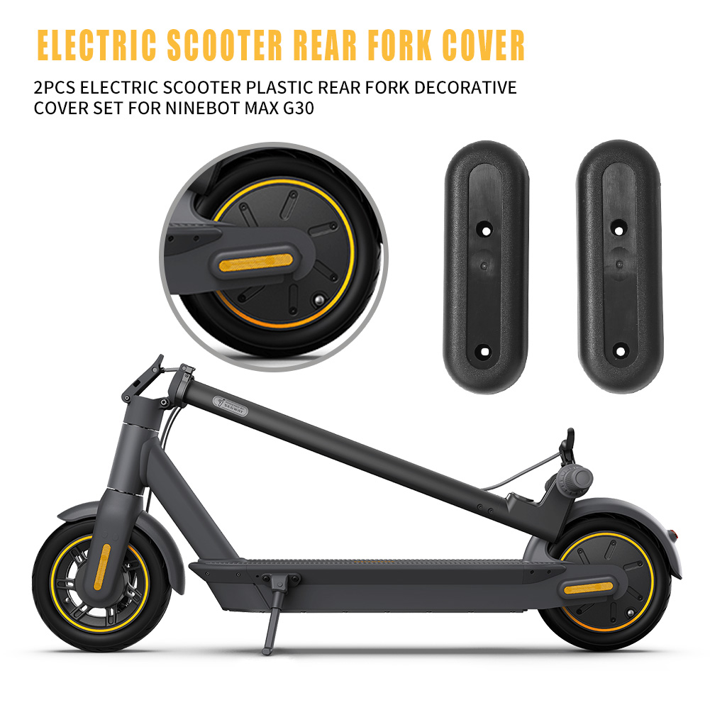 2pcs E-scooter Plastic Rear Fork Decorative Cover for Ninebot MAX G30 Electric Scooter Replacement Parts