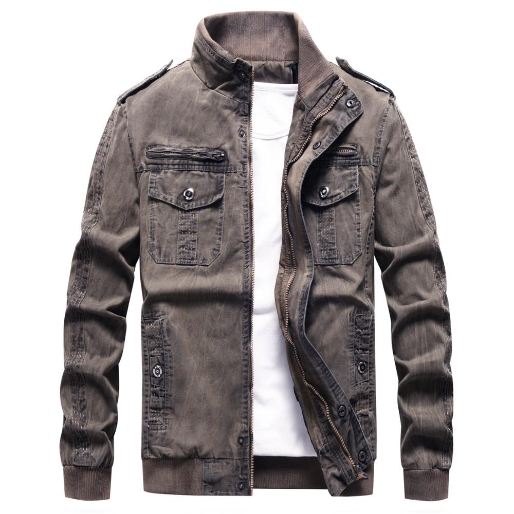 Image 3 - Denim Jacket Men Retro Cowboy Casual Coats Mens Windbreaker Tactical Military Cargo Bomber Jeans Jackets European Size Chaquetas-in Jackets from Men's Clothing