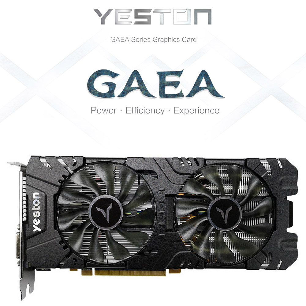 Yeston RX580 2048SP 4G Desktop Computer Gaming Game Office 580 Graphics Card 8G