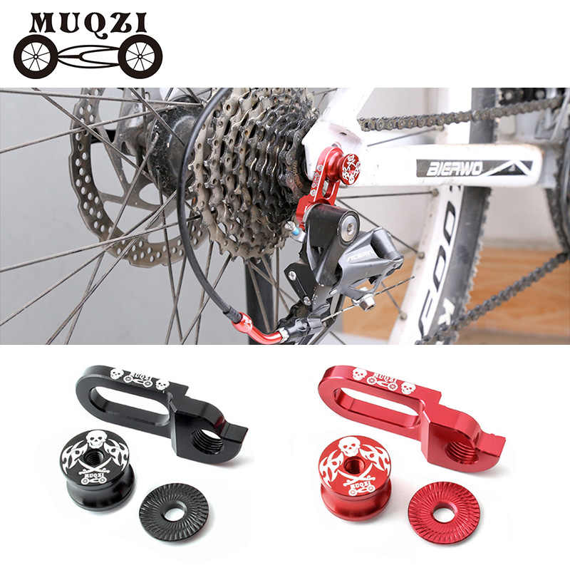 Zcuhen Bicycle Rear Derailleur Hanger Bicycle Tail Hook Extension Extender Bike Bicycle Frame Gear Tail Hook Extender for Mountain Bike Road Bike