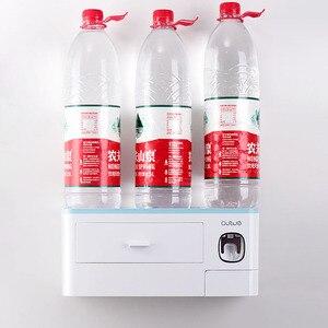 Image 5 - GESEW מגנטי ספיחה הפוך מברשת שיניים מחזיק אוטומטי משחת שיניים מסחטת Dispenser אביזרי אמבטיה